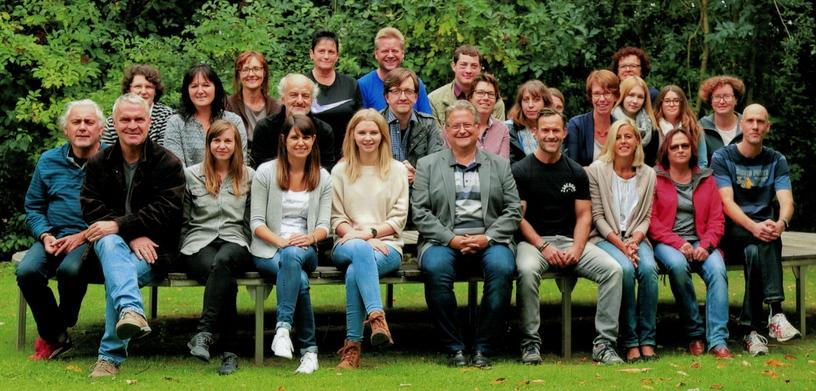 Lehrkräfte und Personal an der Grund- und Mittelschule Lichtenau